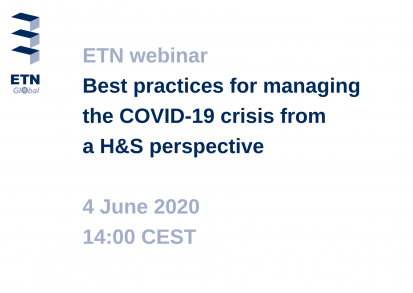 Webinar: Best practices for managing the COVID-19 crisis from a H&S perspective